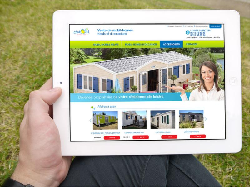 site internet Chadotel mobil-homes